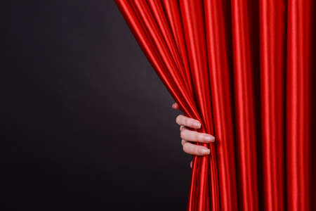 red wave: Red Curtain on black background