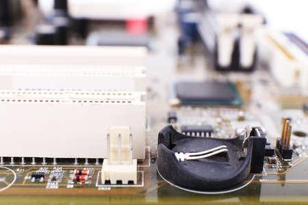 Computer motherboard, macro view photo