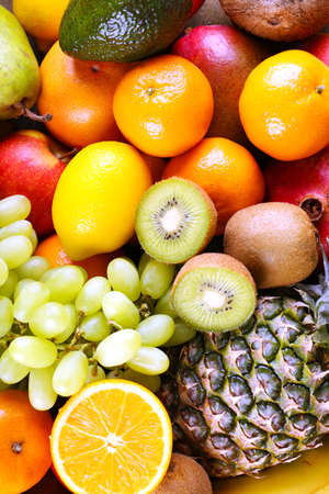 exotic fruits: Assortment of exotic fruits close-up