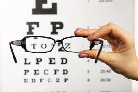 anteojos: Vidrios del ojo en la vista gr�fico de prueba de fondo