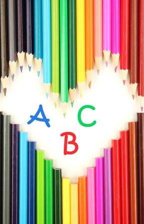 Colorful pencils, close-up photo