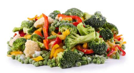Mrożone warzywa samodzielnie na białym tle