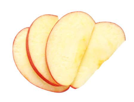 manzana: Manzana en rodajas aislado en blanco Foto de archivo