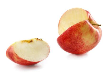 sliced apple: Sliced apple isolated on white