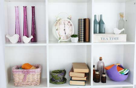 Modern design interior of room with closet, indoors photo