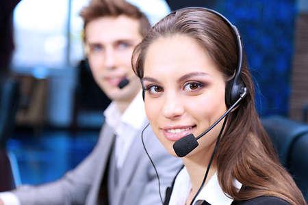 Call center operators at work Standard-Bild
