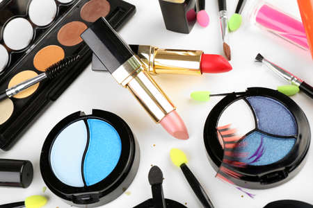 of cosmetics: Different cosmetics close up Stock Photo