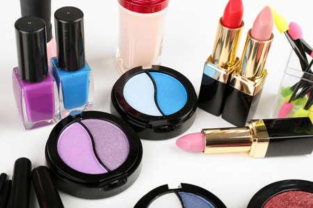 Different cosmetics close up photo