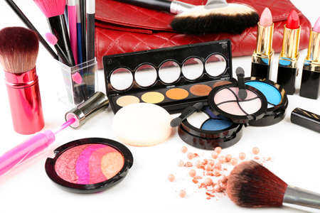 Different cosmetics close up Stock Photo