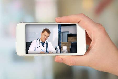 Concepto de consultoría en línea de salud Foto de archivo