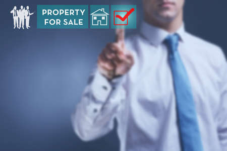 property for sale: Property for sale concept Stock Photo