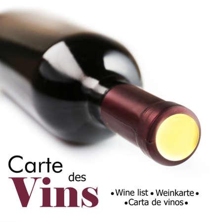 wine bottle: Wine bottle isolated on white