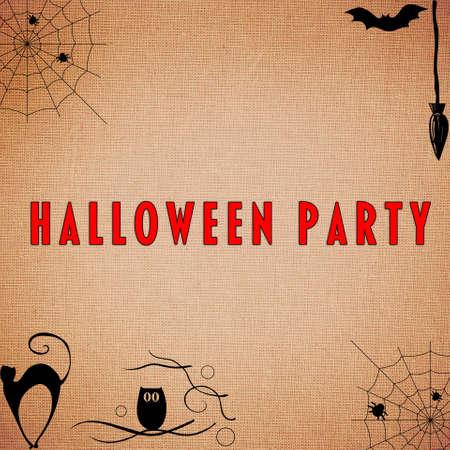 calabazas de halloween: Fondo del partido de Halloween Foto de archivo