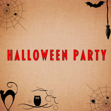 party animals: Halloween Party Background