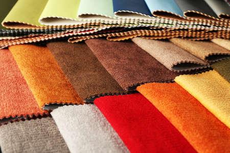 fabric: Scraps of colored tissue close up