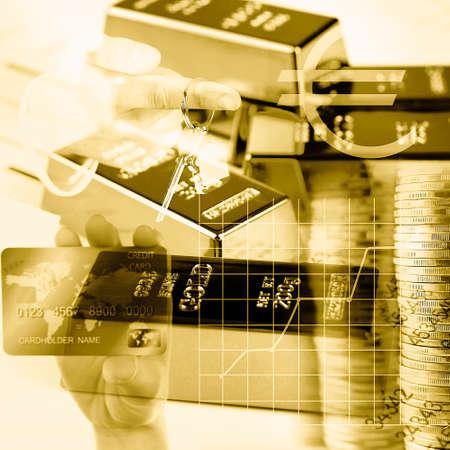 signos de pesos: Concepto de dinero Foto de archivo