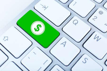 Close-up van het toetsenbord met dollarteken