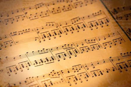 orquesta clasica: Fondo de notas de música  Foto de archivo