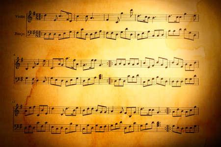 Arrière-plan de notes de musique Banque d'images - 43143998