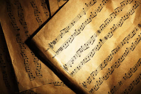 nota musical: Fondo de notas de música  Foto de archivo