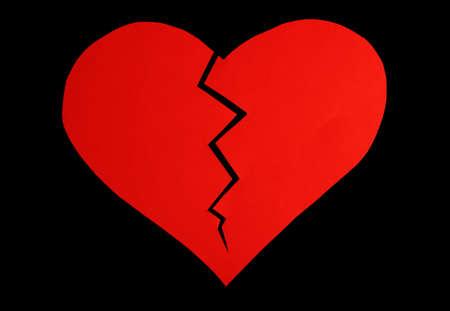 mended: Heart on black