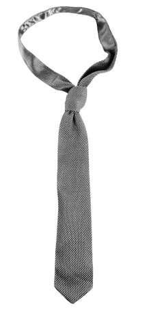 tie necktie: Grey male tie isolated on white