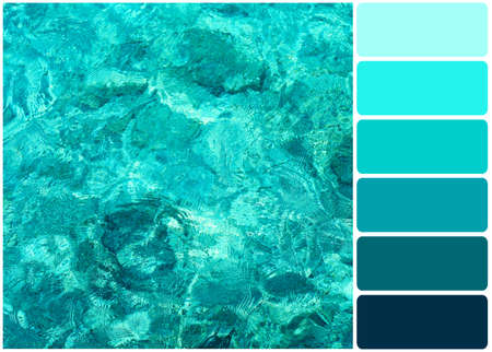 ocean water: Clear ocean water and palette of colors