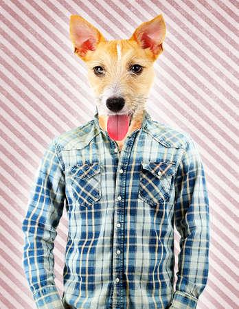 puppydog: Portrait Of Man With Animal Head