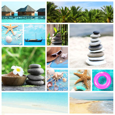 compositions: Collage with spa compositions