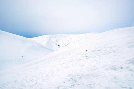 snowdrifts: Snowdrifts mountains in wintertime