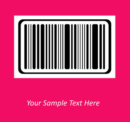 secret number: Bar code on color background. Vector image