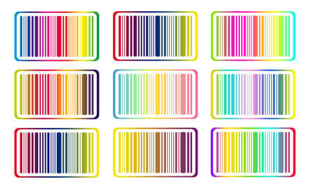 brindled: Bright bar codes, isolated on white. Vector image
