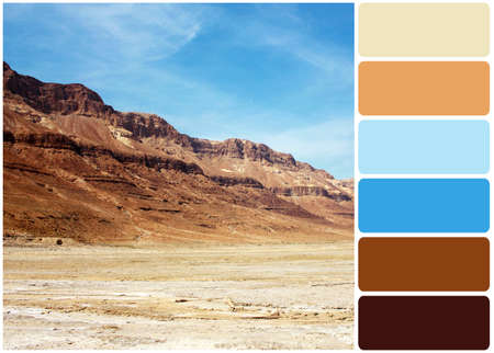 judaean: Red hills landscape and palette of colors