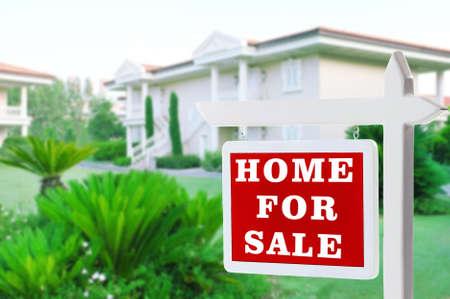 Onroerend goed teken voor nieuwe huis te koop