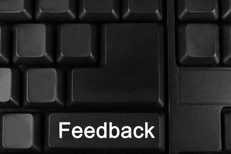 electronic survey: Close up of Feedback keyboard button
