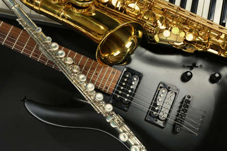 musical instruments: Musical instruments, closeup