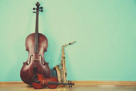 ターコイズで楽器の壁紙の背景