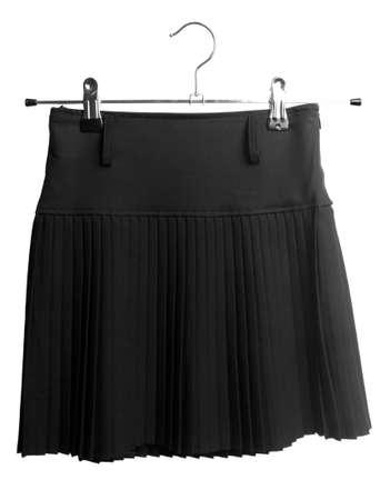 uniform skirt: School uniform skirt, isolated on white