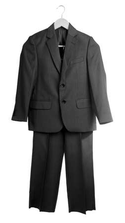 formal dressing: School uniform jacket and trousers, isolated on white Stock Photo