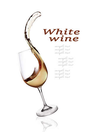 viscosity: Splash of wine isolated on white Stock Photo