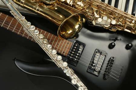 brass: Musical instruments, closeup