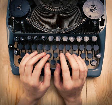 Antique Typewriter. Vintage Typewriter Machine close-up