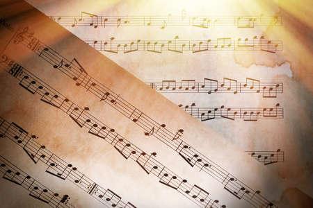 pentagrama musical: Fondo de notas de música  Foto de archivo