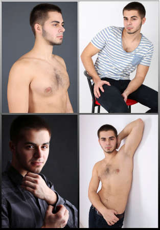 Snapshot of model. Handsome young man Stock Photo