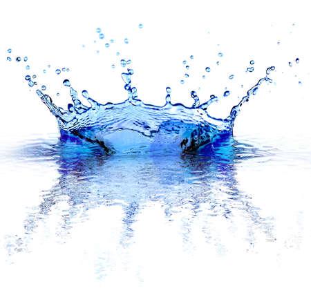 splash: Water splashes isolated on white