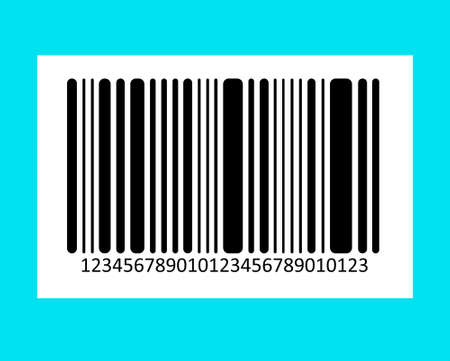 brindled: Bar code on color background. Vector image