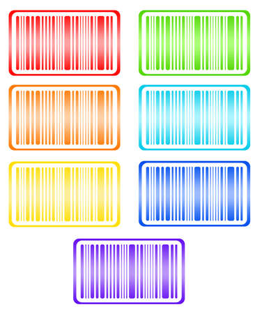 bar codes: Bright bar codes, isolated on white. Vector image