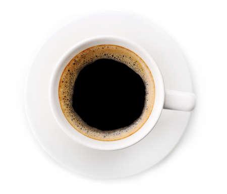 copa: Taza de café sobre blanco aisladas
