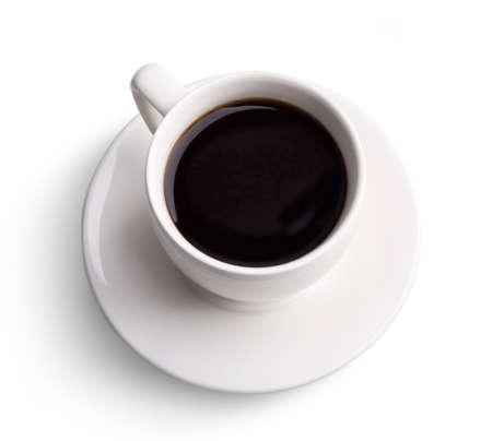 taza cafe: Taza de café sobre blanco aisladas