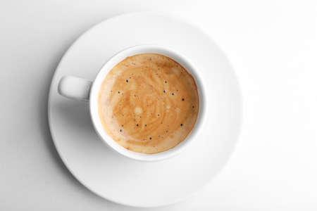 filizanka kawy: Filiżankę kawy wyizolowanych na białym Zdjęcie Seryjne